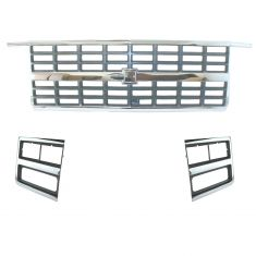 89-91 Chevy Pickup Blazer Suburban Grille Kit (3 Piece)