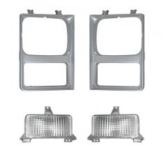 85-88 Chevy Pickup Blazer Suburban Headlight Bezel & Parking Light Kit (4 piece)