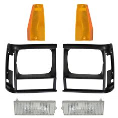 91-96 Jeep Cherokee Front Grill & Lighting Kit (6 piece)