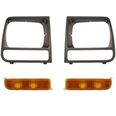 97-01 Jeep Cherokee Front Grille & Lighting Kit (4 Piece)