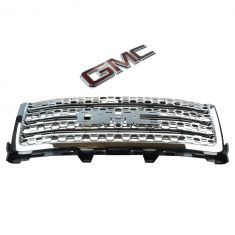 11-14 GMC Sierra Denali 2500, 3500 Chrome Honeycomb Upper Grille (w/GMC Emblem) (GM)