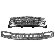 11-14 GMC Sierra Denali 2500, 3500 Chrome Honeycomb Upper & Lower Grille (w/o Emblem) (GM)