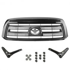 07-09 Toyota Tundra Rock Warrior Style (Painted Black 202) Grille & Bracket Kit (Toyota)