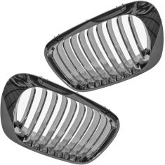 00 BMW 323Ci, 328Ci; 01-03 325Ci, 330Ci; 01-06 M3 All Chrome Upper Grille PAIR