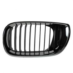 02-05 BMW 320i, 325i, 325Xi, 330i, 330Xi (4DR) Chrome & Black Upper Grille LH