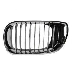 02-05 BMW 320i, 325i, 325Xi, 330i, 330Xi (4DR) All Chrome Upper Grille LH