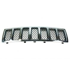08-09 Jeep Grand Cherokee Fr Grille Chrome w/ Black Mesh
