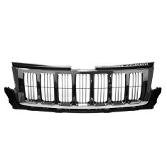 11-13 Jeep Grand Cherokee Upper Grille Chrome w/ Blk Vrt Bars