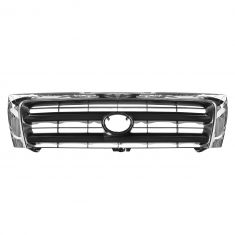 98-00 Toyota Tacoma Pre Runner w/2WD; (from 6/97)-00 Tacoma w/4WD Chrome & Black Center Grille