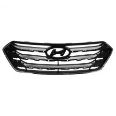 13-14 Hyundai Sante Fe (exc 3.3L) (3 Bar) Upper Chrome Grille