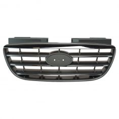 07-08 Elantra; 09-10 Elantra Sedan Front Upper Chrome and Black Grille