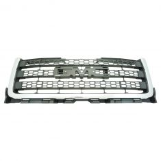 11-14 GMC 2500, 3500 Dark Gray Honeycomb Grille w/Chrome Molding