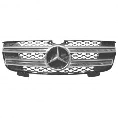 07-09 MB GL320; 10-12 GL350; 07-12 GL450 (w/o Adaptive Cruise) Upper Brilliant Silver Grille (MB)
