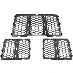 14-16 Jeep Grand Cherokee Molded Black Plastic Honeycomb Grille Insert Kit (Set of 3) (Mopar)