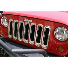 Grille Inserts, Chrome, 07-14 Jeep Wrangler