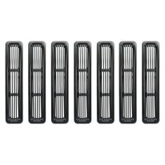 97-06 Jeep Wrangler 7 Piece Black Billet Grille Insert Kit