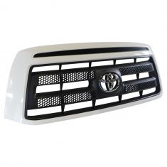 10-13 Toyota Tundra Rock Warrior (Painted Super White Code: 040) Grille w/Toyota Emblem (Toyota)