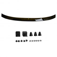09-15 Ford Flex Hood Mounted Smoked w/White ~FLEX~ Logoed Hood Deflector Bug Shield Kit (Ford)