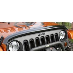 07-14 Jeep Wrangler Hood Smoked Wraparound Bug Deflector