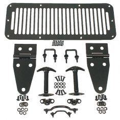 Hood Kit, Black, 76-95 Jeep CJ and Wrangler (YJ/TJ)