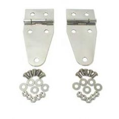 Hood Hinges, Stainless Steel, 76-95 Jeep CJ and Wrangler