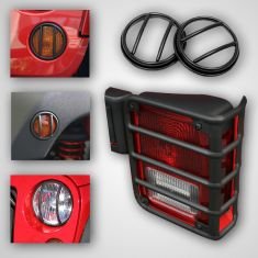 10-Piece Euro Guard Light Kit, Black, 07-14 Jeep Wrangler