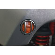 Side Marker Light Euro Guards, Black, 07-14 Jeep Wrangler