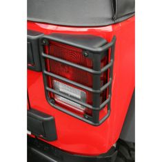 Tail Light Euro Guards, Black, 07-14 Jeep Wrangler