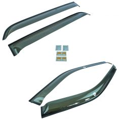 11-16 Ford Explorer Smoked Side Window Deflector/Vent/Rain Guard Kit (Set of 4) (Ford)