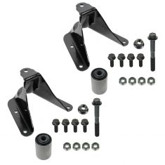 80-96 Ford F150 Truck 2WD Rear Leaf Spring Front Shackle Bracket Kit PAIR