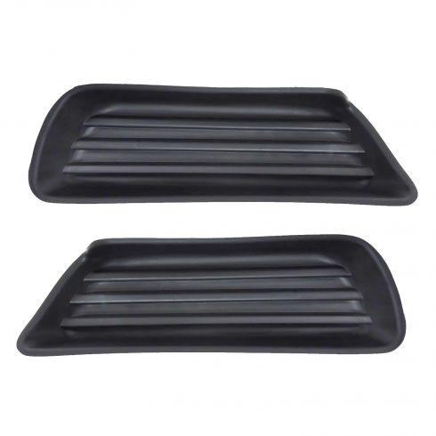 2007 2009 toyota camry front bumper fog light cover pair without fog lights at 1a. Black Bedroom Furniture Sets. Home Design Ideas