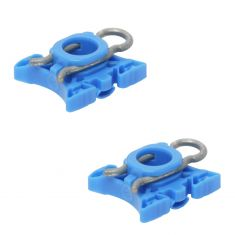 92-09 Volvo Multifit Power Window Regulator Sliding Nylon Pivot Repair Clip PAIR