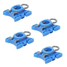 92-09 Volvo Multifit Power Window Regulator Sliding Nylon Pivot Repair Clip SET of 4