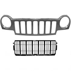 02-04 Jeep Liberty Grille PTM & Insert