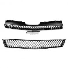 07-12 Chevy Avalanche; Suburban; Tahoe Upper & Lower Grille Black & Chrome