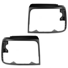 92-96 Ford Bronco; 92-96 F150; 92-97 F250SD-F450 Headlight Bezel Dark Argent Pair
