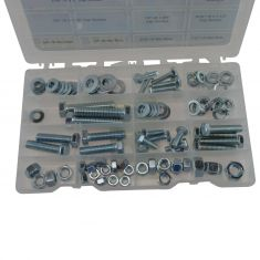 USS Grade 5 Course Thread Std Bolt, Wshr, Nut Hrdwre Value Pack w/Storage Tray (14 Skus - 96 Pcs) (D