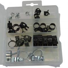 Hose Clamp Assortment & Merchandiser Storage Tray (7 Skus - 32 Pieces) (Dorman)