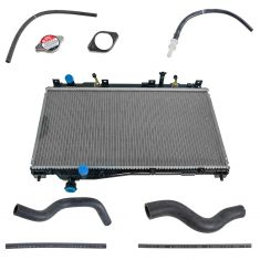 02-05 Civic 1.7L A/T Denso 9 Piece Radiator, Hose, & Cap Kit