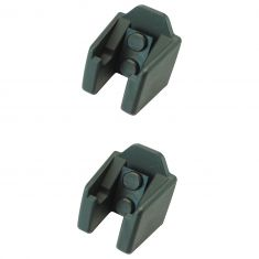 97-16 Jeep Wrangler Hood Catch Bracket Pair