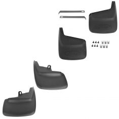 99-10 F250SD, F350SD SRW (w/o Lip Mlds) Custom Front & Rear Splash Guard Mud Flap (Set of 4) (Ford)