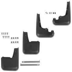 99-10 Ford F250SD-F550SD (w/Lip Moldings) Molded Front & Rear Splash Guard Mud Flap (Set of 4)(Ford)