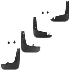 09-14 Ford Flex Custom Molded Black Plastic Front & Rear Splash Guard Mud Flap (Set of 4) (Ford)