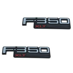 92-97 Ford F350 Fender Mounted Chrome, Black, & Red