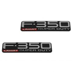 99-04 Ford F350SD Fender Mounted ~F-350 LARIAT SUPER DUTY~ Logoed Adhesive Namplate PAIR (Ford)