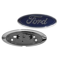 13 (from 4-4-13)-15 F150; 14-15 F250-F350 w/Tailgate Chrome Camera Housing Bezel & Emblem Kit (Ford)