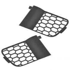 04-06 (to 8-8-05) F150 New Body Front Bumper Mtd Lower Outer Plastic Grille Cover Insert PAIR (Ford)