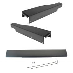 08-15 Frd F250SD, F350SD w/Flex Step & 6 3/4 Bed) Charcoal Tailgate Molding Trim Kit (Set of 3) (FD)
