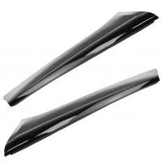 09-15 Ford Flex Windshield Post A-Pillar Molding Black Pair