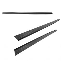02-16 Ford F250SD, F350SD, F450SD, F550SD (w/8 Foot Bed) Black Bed Rail Cap Kit (Set of 3) (Ford)